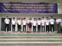 Học viên SAIGON INSERCO tham dự kỳ thi tiếng Nhật ngày 8/7/2018