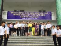 Trường CĐ Y Tế Lâm Đồng Thăm Trường Ngày 3-9-2018